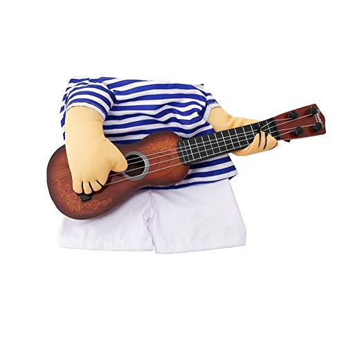 KDSANSO Lustige Haustier Kleidung Hund Anzug Gitarre