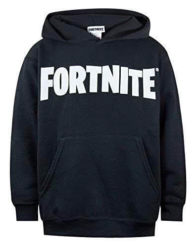 Fortnite Logo Boys Black Hoodie (9-11 Years)