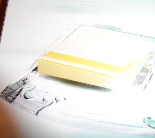 Haftnotiz Spender aus Acryl mit 100 Blätter Papier 75 x 75 mm Sigma