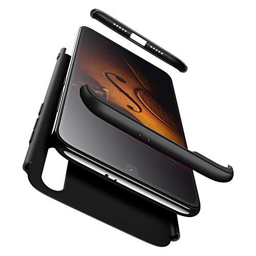 Funda XiaoMi Mi 9 SE con Cristal Templado, AChris 3 en 1 Hard Caja Caso Skin Case Cover Carcasa Ultra Fina Anti-rasguños Choque Resistente Case [Compatible con Carga Inalámbrica]- Rosado