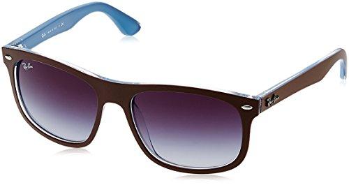 Ray-Ban Sonnenbrille Highstreet Mehrfarbig (Gestell: Vorderseite braun, Rückseite blau Glas: grau Verlauf 61898G), 56