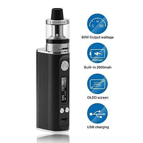 JOMO TECH Sigaretta Elettronica, Sigaretta elettronica Svapo kit Lite 80w Potenza regolabile in...