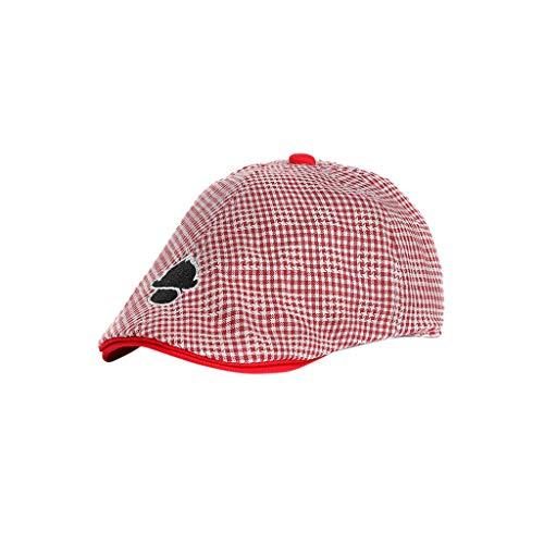 CCIKun Baby Kids Kapppe Hüte Kinder Jungen und Mädchen Hut Gatsby Schirmmütze Streifen Mütze Baskenmütze (rot,52cm) (Hut Rote Matrose)