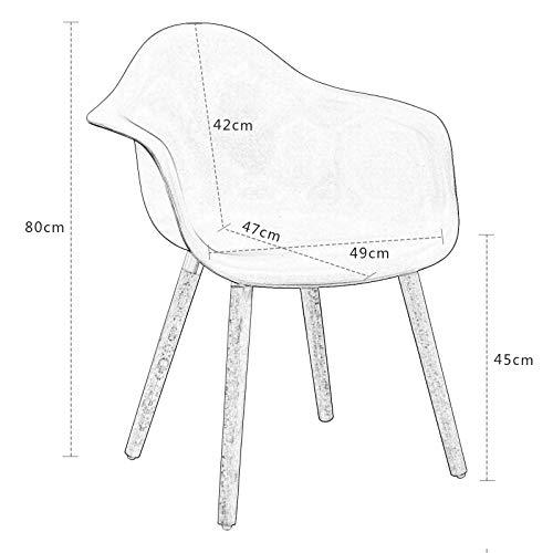Elightry 2X Sedie Cucina Sala da Pranzo Sedia da Scrivania con Schienale Plastica Ecopelle Gambe in Acciaio Cromato Moderno Grigio