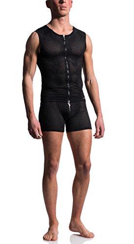 Preisvergleich Produktbild MANStore M603 Zipped Vest - Wildleder-Look - black / schwarz - Gr.XL - limitierte Kollektion