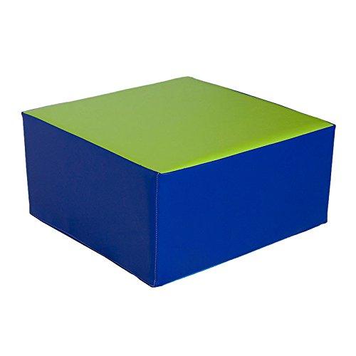 kidunivers–Sitzsack Quadratisch 50x 50cm aus Schaumstoff für Kinder von 3bis 5Jahre ti' Daumen