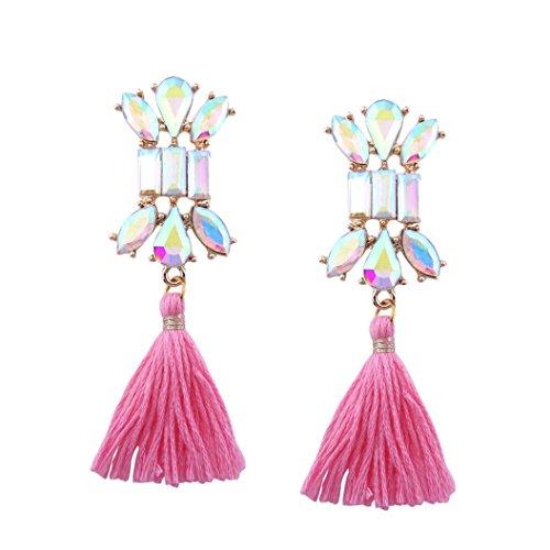 Art- und Weiseböhmische Ohrring-Frauen-lange Troddel-Franse baumeln Ohrring-Schmucksachen HKFV ,Lange Troddel Ohrringe (Kostüm Basic Engel)