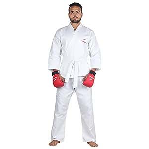 Sportsoul Karate Gi (Uniform) with White Belt, Size - 36
