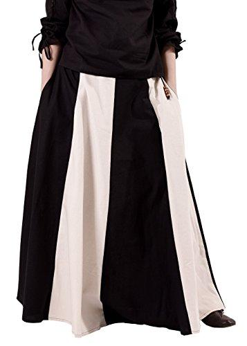 ck, weit ausgestellt aus schwerer Baumwolle Mittelalter LARP Wikinger Kostüm verschiedene Ausführungen (XXL, Schwarz/Natur) (Mittelalterliche Soldat Kostüme)