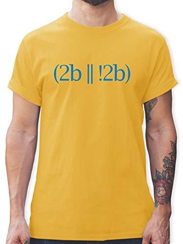 Programmierer - to be or not to be - XXL - Gelb - L190 - Herren T-Shirt und Männer Tshirt - Oversize-rechner