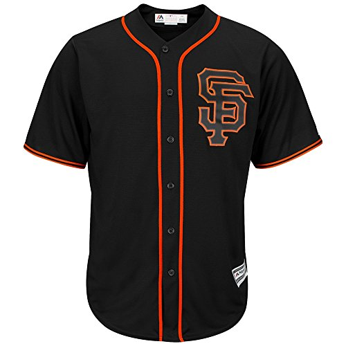 Majestic Cool Base San Francisco Giants MLB, Nero, Black, M