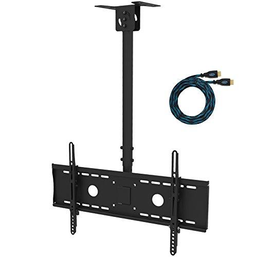 Cheetah Mounts APLCMB TV Deckenhalterung Schwenkbar neigbar Deckenhalter für 81- 160cm (32- 63) Plasma LCD Fernseher. Halterung mit 15 Grad Neigbar 60 Grad Drehbar und 46cm höhen verstellbar. Max. belastbarkeit 79KG