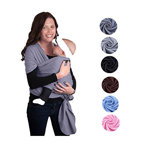 Zogin Elastisches Babytragetuch Baby Carrier Babytragen babytuch für Neugeborene & Babys 0 - 18 Monate, 3 - 12 kg ( dunkelgrau )