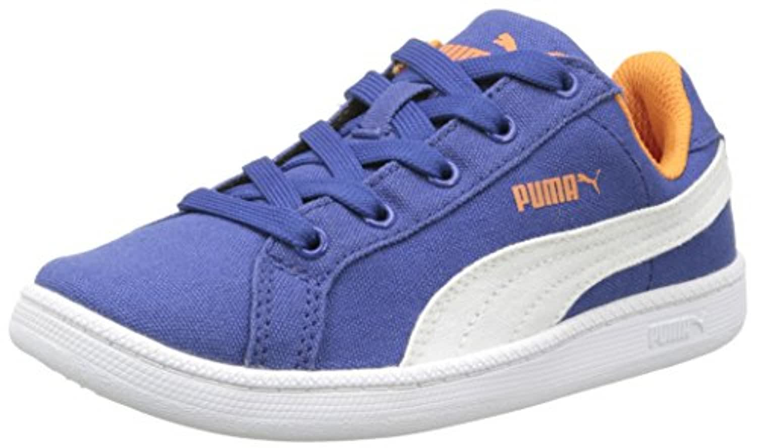 Puma Boys' Smash Fun Cv Trainers blue Size: 1 UK