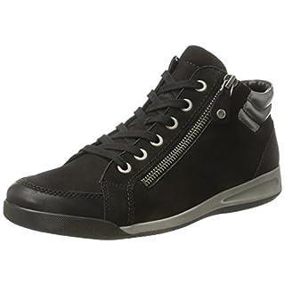 ara Damen Rom-Stf 12-44410 Hohe Sneaker, Schwarz (schwarz,gun), 37.5 EU (4.5 UK)