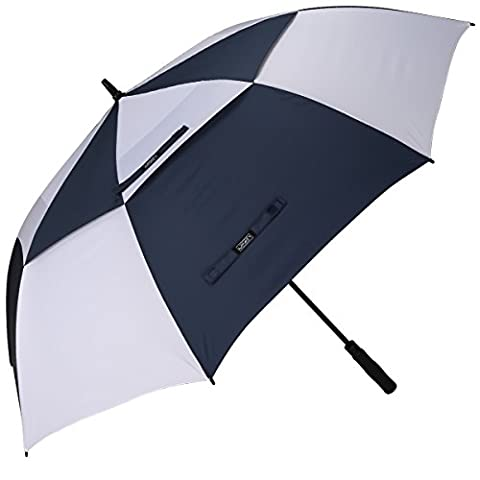 G4Free Golf Umbrella 68 Inch Windproof Double Canopy Vented Extra Large Oversize Automatic Open Waterproof Stick