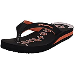 Ortho + Rest Black Slippers for Women (Size: 7)