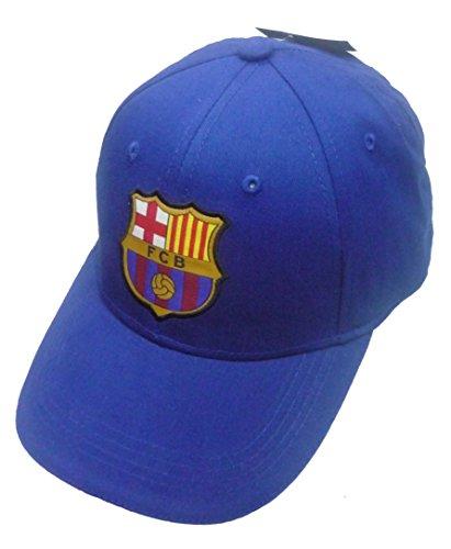 offiziell Lizensierte ORIGINAL FC Barcelona Blau Schirmmütze, für Kinder – lizensierter FC Barcelona Fanartikel