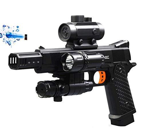 LEEEC Wasserpistole, Spielzeugpistole Wasser Polymer Bomben Pistole USB Wasserpistole Wasser Perlen Pellets Spielzeugpistole Outdoor Cosplay Für Kinder -