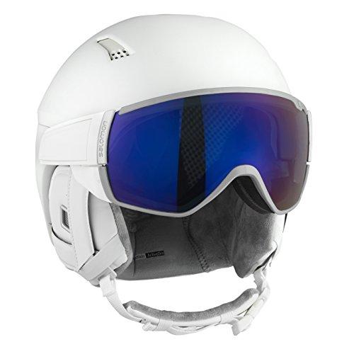 SALOMON Damen Mirage+ Helmet, White/Flash Blue, M
