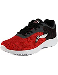 Lining Men's Red Mesh Running Shoes - 5 UK