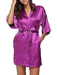 7ac6540c4 TIFIY Ropa Interior Lencería Mujer Seda Bata de Encaje Babydoll Camisón  Pijama de Encaje Sexy Camisón