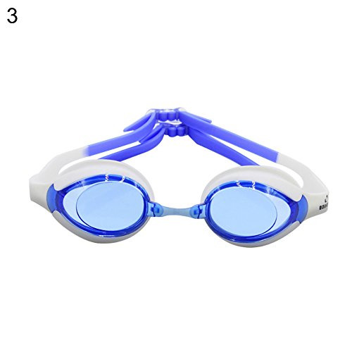 xMxDESiZ Einstellbare Kinder Sport Brillen Eyewear Mode Schwimmen Anti-Fog-Brille Schwimmen Blau