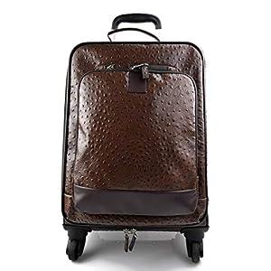 Leder reisekoffer troller kaffee leder reisetasche manner damen mit griff leder tasche reise tasche sporttasche mit 4 rollen pilot tasche