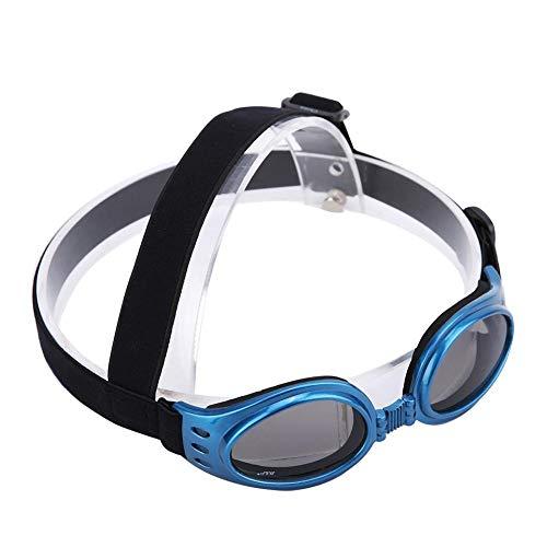 Mootea Dog Goggles Eye Wear - Kleine Hundesonnenbrille Wasserdicht Winddicht UV-Schutz für Doggy Puppy Cat(Blau)