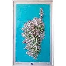 Corse : Carte en relief 1/180.000
