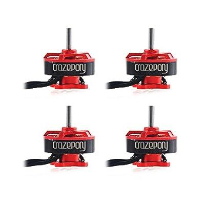 FancyWhoop 4pcs BR1103 10000KV Brushless Motors for 50 80 100 Multirotor Quadcopter Drone Red