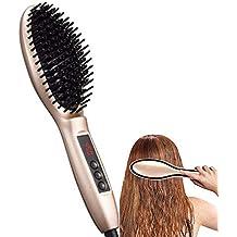Cepillos alisador de cerámica de turmalina Peine de iones negativos Alisando el cabello frizz para cabello