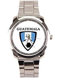 169acfe9058b hottsummer Guatemala de fútbol para hombre acero inoxidable relojes hombres