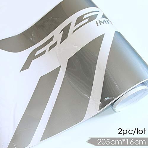 AITU Auto Aufkleber 2 Seitenrock Gestreiftes Muster Vinyl Applique Auto Aufkleber Cross Country Sport Bett Autoteile