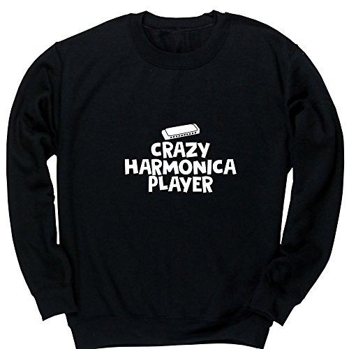 Hippowarehouse Crazy Harmonica Player Kids Children's Unisex Jumper Sweatshirt Pullover