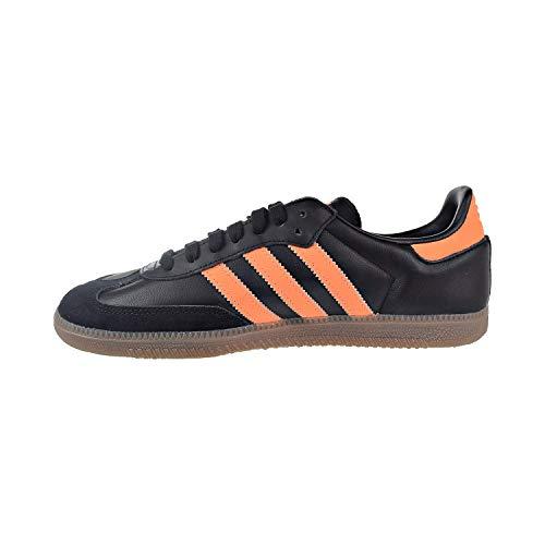adidas Herren Samba Leder Black Orange Gold Trainer 42 2/3 EU
