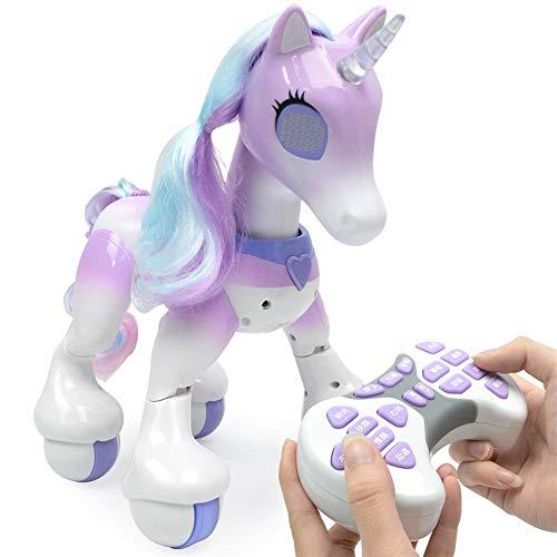 elektrisches pferd Fernbedienung Einhorn - elektrisches intelligentes Pferd, Touch Induction Elektronisches Haustier, Eigenschaften umfassen Kinderlieder, Tanzen, Geschichten, Schlaf, Programmierung usw.