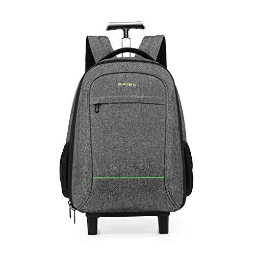 SH-lgx Trolley Rollbarer Rucksack wasserdichte Business-Tasche mit großem Fassungsvermögen und 16-Zoll-Laptopfach, geeignet für Unisex-Reisen mit kurzer Reichweite (Farbe : Gray, größe : S) - Großen Rädern Erweiterbar Kurze