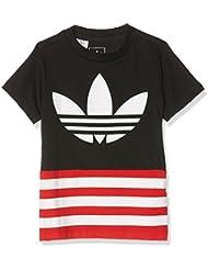 adidas J Fl Tee - Camiseta para niños de 5-6 años, color negro