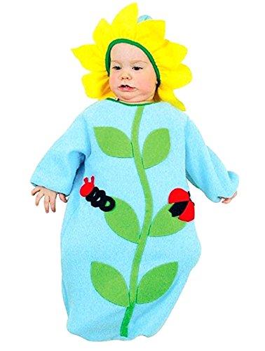 0-9 Monate - Kostüm - Verkleidung - Karneval - Halloween - Blümchen - Blume - Celeste - Blaue Farbe - Kind - Neugeboren (Ideen Vier Mädchen Halloween-kostüm)