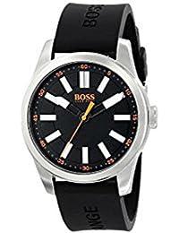 BOSS Naranja Hombre 1512936 Big Up Analógico Pantalla cuarzo negro reloj por Hugo Boss