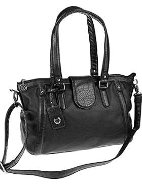 Made Italy Valleverde Tasche Schultertasche Umhängetasche bag Leder-Optik 38x28x14 cm (B:H:T) VV80