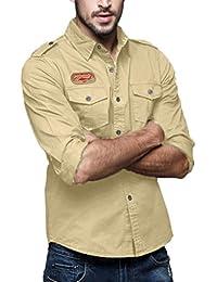 Camisa Casual Manga Larga para Hombre De Moda,ZARLLE Camisa Superior De Manga Larga De