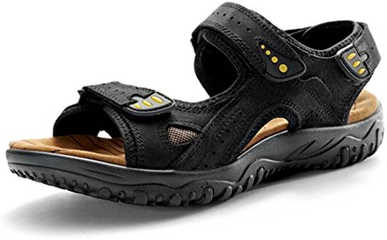Mengxx Sommer Sandale Herrenschuhe Casual Lederschuh Exposed Toe Sandalen Perfekt für Strand Outdoor Reisen