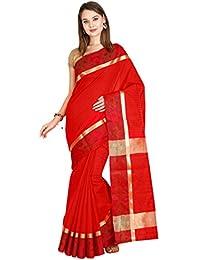 The Chennai Silks - Art Silk Saree - True Red - (CCMYFA7279)