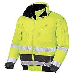 teXXor Warnschutz-Pilotenjacke Vancouver wasserdichte, winddichte Arbeitsjacke, M, gelb, 4106