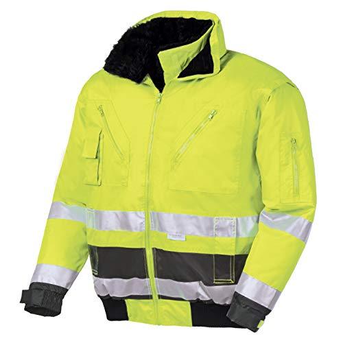 Isolierte Sicherheits-jacke Farbe (teXXor Warnschutz-Pilotenjacke Vancouver wasserdichte, winddichte Arbeitsjacke, XL, gelb, 4106)