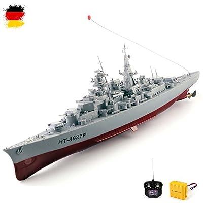 Original 1:360 Bismarck XXL RC ferngesteuertes Schlachtschiff Schiff-Modell Kriegsschiff Modellbau, Ready-To-Run ,Komplett-Set Inkl. Zubehör von HSP HIMOTO