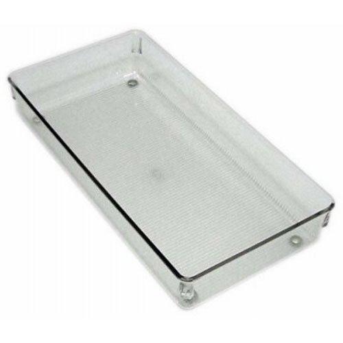 iDesign Schubladen Organizer, großer Schubladeneinsatz aus Kunststoff, verwendbar als Besteckkasten für Schubladen, durchsichtig (Kunststoff-schubladen Große)
