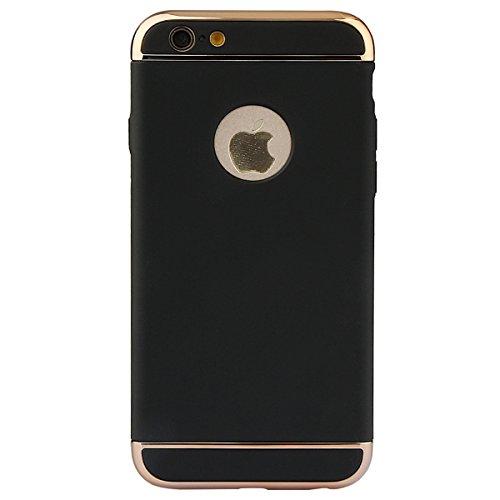 """xhorizon 3 en 1 Anti-rayures Anti-empreinte Digitale Antichoc Boîtier Cadre électroplaqué avec Surface Antidérapante avec Revêtement Mat pour iPhone 6 Plus/6S Plus[5.5""""] noir"""